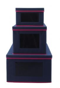 China 40cm Collapsible Storage Bins With Lid , Collapsible Storage Boxes With Windows wholesale