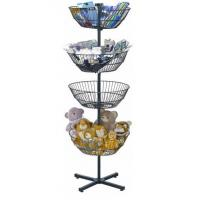 China 4 Tiers Metal Rotating Floor Spinner Display Rack Powder Coating Or Chrome Plated wholesale