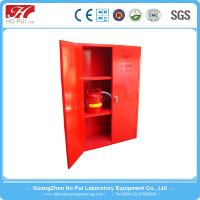China Anti - Explosion Flammable Safety Cabinet , Yellow Two Lock Steel Lab Furniture wholesale