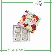 China Colorful Flower Printing Candle Packaging Boxes For Four Pieces on sale