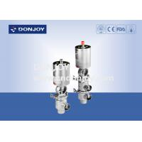 China Aseptic sanitary reversing seat valve DN25 - DN150 with pneumatic actuator 316L wholesale
