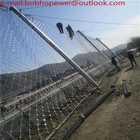 SNS chain link fencing reinforcing meshes/SNS rockfall protecion system construction steel wire rope mesh