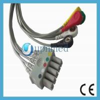 China Drager Siemens 5 lead  ECG cabe with leadwires ,Euro-Style leads,Grabber/snap,TPU Cables,IEC,CE Mark wholesale