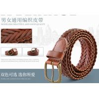 China Vintage Bonded Soft Leather Belt In Brown Color With Bronze Prong Buckle wholesale