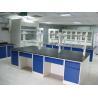 Buy cheap Anti High Temperature Laboratory Island Bench Grey Steel Three Ways Bronze from wholesalers