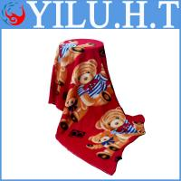 China double bed bear cartoon design polar fleece fabric polar bear print knitting fabric patterns wholesale