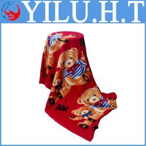 China double bed bear cartoon design polar fleece fabric polar bear print knitting fabric patterns wholesale