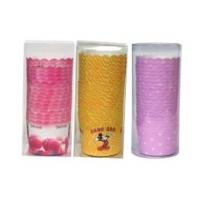 China ZH-JZ6055 Clear plastic PVC box for  food standard paper container paper cups retail cylinder PVC box wholesale