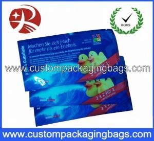 China Creative Custom Packaging Bags , Plastic Printing Colour Wet Wipe Bag wholesale
