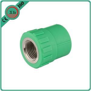 China Polypropylene Random Virgin PPR Female Socket Corrosion Resistant Green Color wholesale