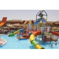 China Small Colorful Water Playground Equipment Enclosed Slide For Kids And Water Park wholesale
