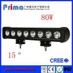 "China 15"" 80W Cree Led Light Bar! Single Row Light Bar for Jeep SUV 4X4 wholesale"