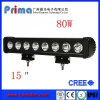 """Buy cheap 15"""" 80W Cree Led Light Bar! Single Row Light Bar for Jeep SUV 4X4 from wholesalers"""