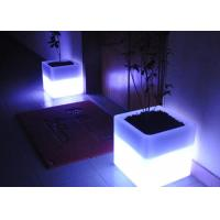Buy cheap Square Illuminated Plant Pots Multicolor Change Round Glow In Dark Flower Pots from wholesalers