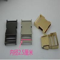 China Fashion Metal Material Zinc Alloy Nickel Color 25 Mm Quickly Release Buckles For Webbing wholesale