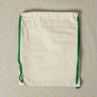 China custom eco-friendly school sport backpack cotton drawstring bag wholesale