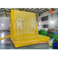 China Leisure Games Inflatable Climbing Wall / Inflatable Magic Sticky Wall For Children wholesale
