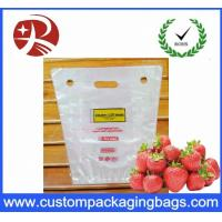 China PP Portable Fruit Packing Bag With Perforation And Hanger Hole wholesale