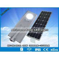 China Hitechled Luminaria Solar LED Integrada,Todo En Uno Panel 60W y Bateria 307W y LED 30W wholesale