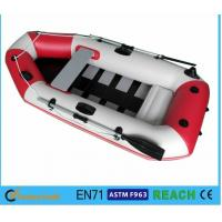 China White And Red Inflatable Float Boat PVC Drift Boat Inflatable Fishing Boat wholesale