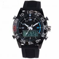 Buy cheap Fashion Military Waterproof Silicone Watches Digital LED Quartz Dual Display from wholesalers