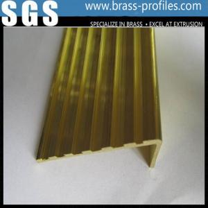 China Brass Anti-slip Strip for Stairs / Brass Non-slip Nosing Sheet wholesale