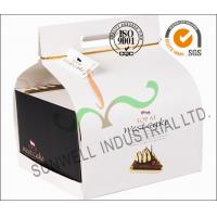 China Custom Decorative Individual Wedding Cake Boxes With Convenience Handle wholesale