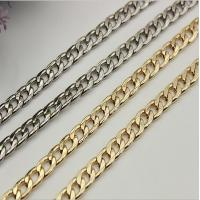 China Widespread sale good quality 90 mm length iron material flat shape gold metal chain for lanyard wholesale