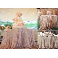 China Round Gold Sequin Fabric , Gold Sequin Runner Hand Washing Non Bleaching wholesale