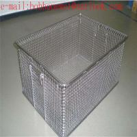 China Medical instrument cleaning baskets stainless steel wire mesh/Sterilization Wire Mesh Trays Baskets wholesale