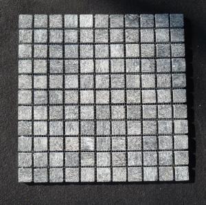 China Indoor mosaic slate stone tile Black quartz surface fire home depot wholesale