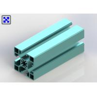 China Sky Blue Color 40 * 40 Anodizing T Slot Aluminum Profile For Architectural Use wholesale