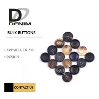 China Fashion Concaved Camel Round Button 24L Classic Pattern Horn Buttons For Suit & Jacket wholesale