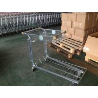 China Retail Warehouse Trolley / cargo trolley with two round embossed logo plate wholesale