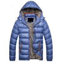 China Casual Style Mens Down Parka Jacket , Mens Shiny Puffer Coat Good Thermal Protection on sale