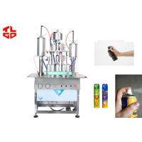 3 in 1 Semi Automatic Aerosol Filling Machine for Insecticide Pesticide Spray Pneumatic Drive Manufactures