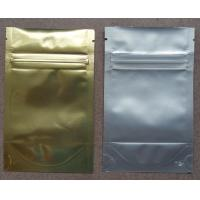Aluminum Foil Ziplock Bags Stand Up Packaging Pouches For Seeds