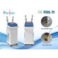 China Convenient two handles resuable and non-resuable tips with 5 Mhz high frequency aim at skin rejuvenation thermage micro wholesale