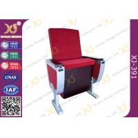 China Aluminum Alloy Leg Cinema Theater Auditorium Chairs With Full Size Dual Folding Dining Table wholesale