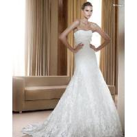 China Strapless Lace Wedding Gowns wholesale