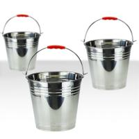 China 7 litre - 20 litre Stainless Steel Water Bucket 0.4mm Thickness strong and immune to rust wholesale