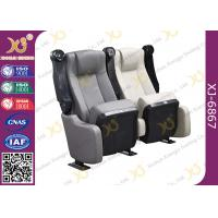 China Sound Absorbing Indoor Novel Design Grey Cinema Theater Chairs With PU Molded Foam wholesale