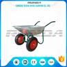 China Durable Heavy Duty Wheelbarrow , Two Wheel Steel WheelbarrowWide Stance Legs wholesale