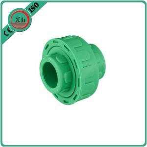 China Plastic Adapter PPR Union Polypropylene Random Hexagon Head Code White / Green Color wholesale