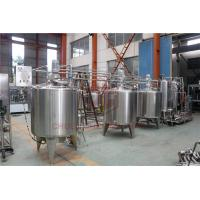 China Stainless Steel Beverage Mixer Carbonated Drink Production Line With Piston Filling System wholesale
