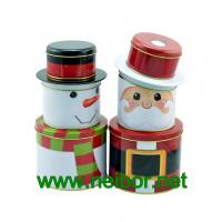 China Christmas holiday tin box decorative tin box wholesale