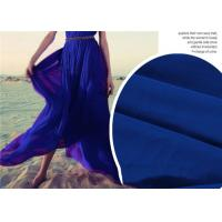 Breathable Lightweight Chiffon Fabric , Quick Drying Blue Silk Chiffon Fabric
