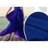 China Breathable Lightweight Chiffon Fabric , Quick Drying Blue Silk Chiffon Fabric wholesale