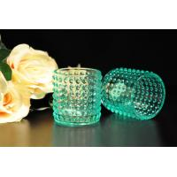 China Color Sprayed Glass Tealight Candle Holders / Glass Candlestick Holders wholesale