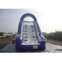 China Splash Pool Inflatable Water Slide / Rental Inflatable Climbing Wall And Slide wholesale